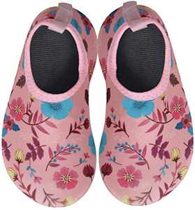 BomKinta Baby Boys Girls Quick Dry Non-Slip Water Shoes Outdoor Walking Aqua Socks for Beach Swimming Pool Pink Size 6-12 Months Infant