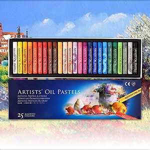 Arts Oil Pastels Set,25 Colors Soft Pastel Pencils for Professional DIY Handmade Graffiti,Non-toxic Oil Pastels for Kids,Student and Beginner Painter