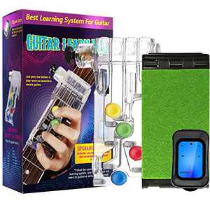 Guitar Beginner Accessories, Guitar Learning Tools with Chromatic Tuner and Guitar String Cleaner for Adults & Children Trainer Beginners