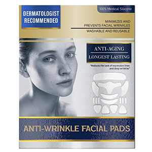 16 Pieces Face Wrinkle Patches, Reusable Anti Wrinkle Pads for Face,100% Medical-Grade Silicone, Reducing and Smoothing Wrinkles