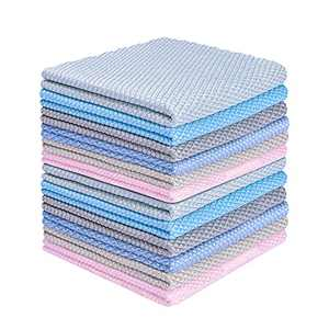 Poktlife Nanoscale Cleaning Cloth,6 Pack 12 x 16 Inches,Microfiber Cleaning Cloth