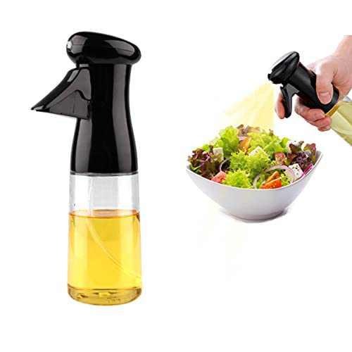 Cenekphy 200ml Olive Oil Sprayer for Cooking, Oil Spray Bottle Dispenser Mister, Refillable Food Grade Kitchen Oil Vinegar Sprayer for Cooking Air Fryer, BBQ, Salad, Baking, Roasting, Grilling, Frying