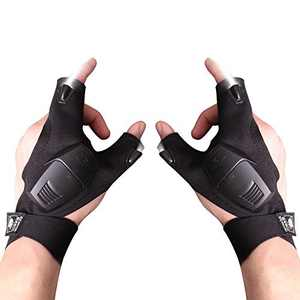 LED Flashlight Gloves, Hands Free Outdoor Flashlight Gloves, Men Tool Gadgets Gifts for Handyman, Fishing, Camping or Repair Machine (1 Pair)