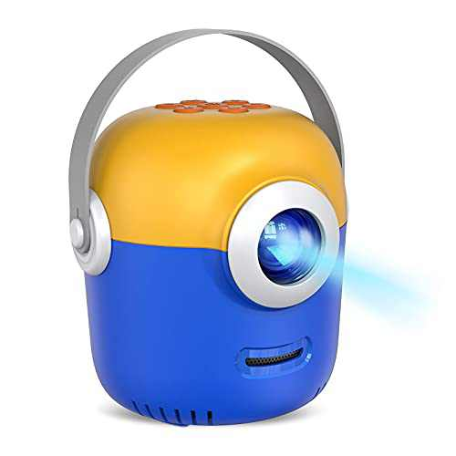Mini Video Projector for Kids Play Home Theater Cartoon Tv Movie Projecter Portable, Compatible with USB,Smart Phone,iPhone,Laptop,SD Cards,Small Tech Gadgets Electronics Gift for Kids VP207