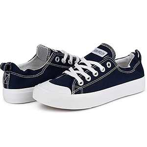 Women Sneakers Slip On Low Tops Shoes Shoreline Classic Casual Comfortable Flats Navy Blue