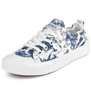 JENN ARDOR Canvas Shoes for Womens Slip on Sneakers Comfortable Shoes for Women Fashion Sneakers Low Top Wakling Shoe