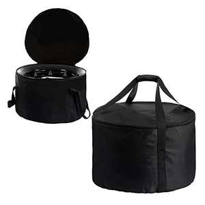 """Outdoor Fire Pit Bag- Fits for Outland Firebowl 823 870 893 19"""" Diameter Water-Resistant Portable Propane Gas Fire Pit Carrying Case with Handle Outside Firebowl Carrying Bag for Travel Picnic Camping"""