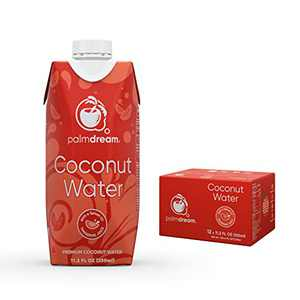 Palmdream Coconut Water | Premium Coconut Water - Flavored with Natural Tangerine Juice | Never from Concentrate, Non-GMO, Gluten Free | Single Origin Coconuts | Natural Electrolytes to Boost Hydration (Tangerine Flavor - 330ml) - 12 units