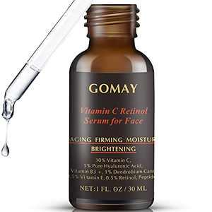 Vitamin C Serum 30% for Face with 0.5% Retinol Serum, 5% Hyaluronic Acid, 3.5% Niacinamide, 1% Dendrobium Candidum, 0.1% Oligopeptide and Vitamin E Anti-oxidant, Anti-aging, Even Skin Tone (1 Fl Oz)