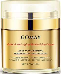 Retinol Anti-aging Night Cream, Face Moisturizer for Anti-aging, Firming, Moisturizing With 3% Retinol, 2% Hyaluronic Acid, Polypeptides, Fullerenes, Vitamin C and E-American Brand