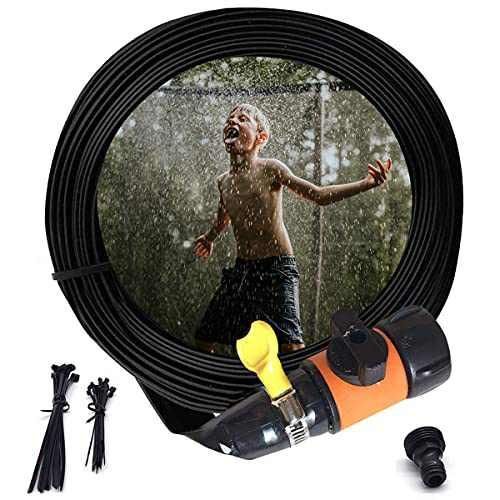 ButyHome Orange Trampoline Sprinklers for Kids, Outdoor Water Play Sprinklers, Waterpark Fun Summer Outdoor Water Games Yard Water Toys Sprinklers
