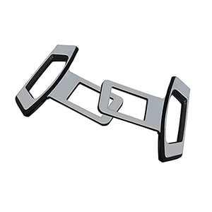 2 Pack Car Seat Belt Clips, Automotive Metal Seat Belt Buckle Alarm Stopper, Fashion Design Seat Belts Accessories for Most Car