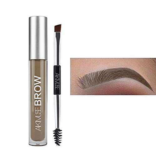 Eyebrow Gel Waterproof, Semi permanent Eyebrow Gel, Natural, Smudge-Proof, Sweat Resistant, Tinted Liquid Brow Makeup, 24 Hours Long Lasting for Eyebrow Makeup (Brunette)