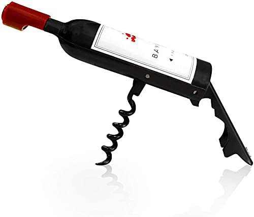 Wine Corkscrew Bottle Opener, Wine Shaped Opener - 3-in-1 Multifunctional Wine & Beer Cap Openers - Great Funny Gift for Wine Lovers