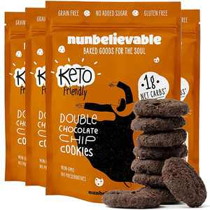 Nunbelievable Keto Cookies, Double Chocolate Chip, Pack of 4