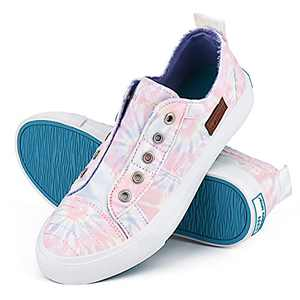 Women Canvas Sneakers Slip On Shoes Low Tops Casual Walking Shoes Comfortable