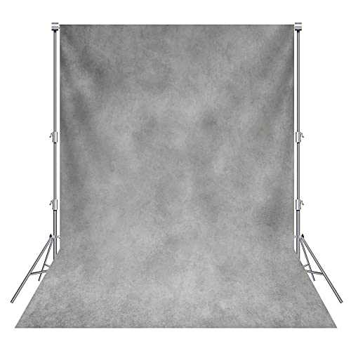 Haboke 5x7ft Durable Polyester Abstract Gray Photography Backdrop for Photo Background Studio Booth Props