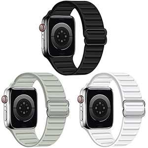 RARF 3-Pack Bands Compatible with Apple Watch 38mm 40mm 41mm 42mm 44mm 45mm, Adjustable Stretchy Replacement Strap Bracelet Wristband Compatible with iWatch SE Series 7/6/5/4/3/2/1