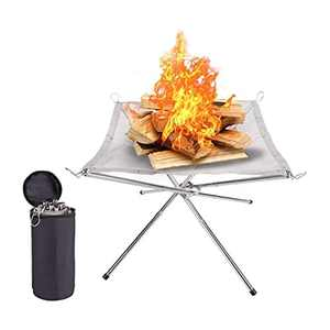 """Basic Model Portable Fire Pit for Travel Camping and Backyard 16.5""""*16.5""""*13.3""""/42cm*42cm*34cm"""
