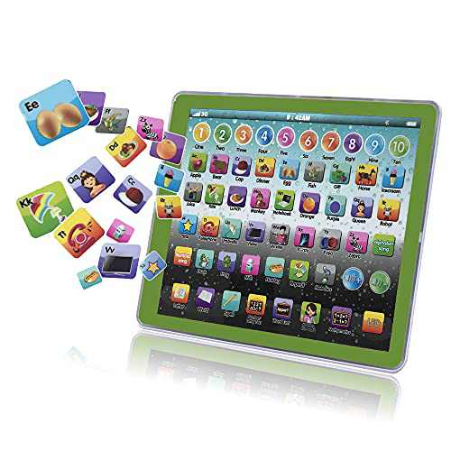 Wonderland Pool Learning Tablet Educational Touch Pad for Fun Learn Number ABCs Spelling Animal