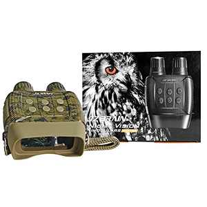 JZBRAIN Night Vision Binoculars Digital Infrared Goggles Camera Recorder for Hunting Surveillance Tactical Uses in Darkness Camo(Battery Not Included)