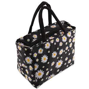Insulated Lunch Bag, HSYTEK Leakproof Reusable School Lunch Box Keep Food Hot or Cold, Ideal Size for Men or Women Work Picnic and Travel (Black)