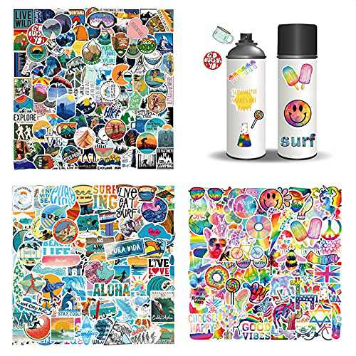 308PCS Stickers Pack Vinyl Stickers Waterproof Stickers (No Repetition) Computer Stickers Decals for Water Bottles Book Laptop Guitar Skateboard Travel Case Cute Stickers