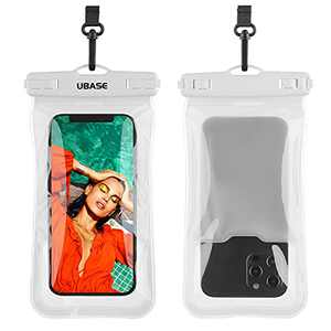 """Floating Waterproof Phone Bag up to 6.7"""", Float Waterproof Case Underwater Dry Bag for iPhone 13 Pro Max 12 XS XR 11 10 Plus Galaxy Pixel for Pool Beach Swimming Kayak Travel (Clear)"""
