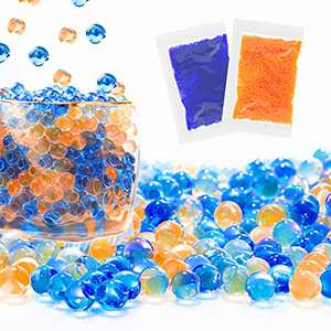 Water Beads Refill Ammo 2 Pack- 10,000 Per Pack 7-8mm - MAISINY Water Based Gel Balls Bullet for Gel Ball Blasters , Water Bullets Beads (Blue/Orange)