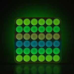 YONOY Fluorescent Colorful Push Bubble Fidget Toy, Push Pop Bubble Sensory Fidget Toy , Glow in The Dark Pop Bubble Sensory Fidget Toy for Kids and Adults, Fidget Popper Stress Reliever Toys