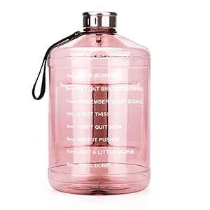 OSVAW128oz/1 Gallon Water Bottle with Time Marker Motivational, BPA-Free Water Jug for Gym Sports Camping Fishing Yoga Outdoor Activity