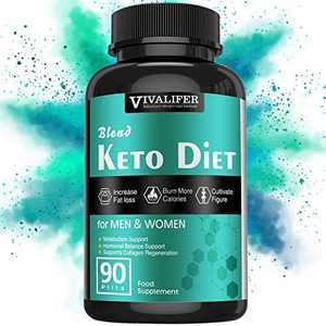 Keto Diet Pills, 90 Pills Fat Burner & Weight Loss Supplement Formula Keto Burn Pills,Women Men Appetite Suppressant ACV Detox Support