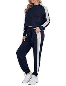 Chriselda Womens Loungewear Set 2 Piece Lounge Sets for Women Sweatsuits Pajamas Sets with Jogger Sweatpants Sets Small S