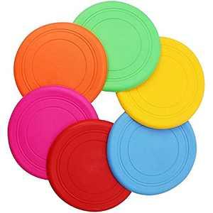 AIWENXIE Dog Flying DiscsTraining Toys -Soft Flying Discs- Silicone Flying Discs 6 Pack- Flying Discs Game
