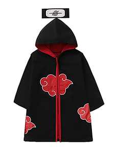 Singcoco Little Boy Girl Halloween Costume Outfit Long Robe Cloak ((Black-Hooded,3-4 T)