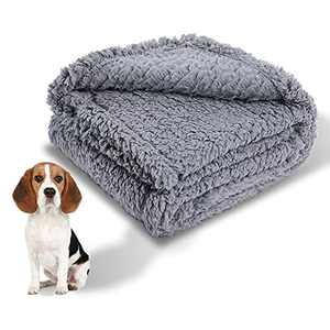 Cozy Fleece Dog Blanket Small Fuzzy Soft Washable Puppy Blankets Chew Proof Sherpa Couch Pet Cat Throw Anxiety Weighted Bed Pad Cover Gray