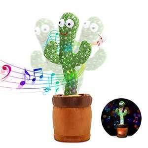 LUKETURE Cactus Toy Dancing Cactus Singing Cactus Talking Plush Cactus (120 Songs(Glowing)
