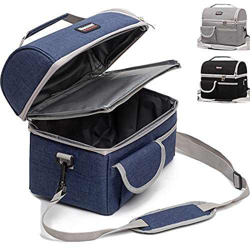 10L!10L!10L!2 Compartment Lunch Box,2 Deck/Dual Compartment/2 Compartments/Double Deck Insulated Lunch Bag Box,Lunch Box for Men/Women,Lunch Bag for Women/Men,Reusable Bag