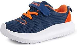 CAMVAVSR Toddler Boys Athletic Shoes Kids Girls Cool Sport Tennis Sneakers for Slip On Running Walking Breathable Summer Shoes Blue Size 8.5 M US Toddler Kid
