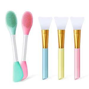 5pcs Silicone Face Mask Brush Applicator Makeup Brushes, Silicone Facial Mask Brush Face Mask Applicator Brush Facial Brushes set,Makeup Tools for Apply Mask Cream Lotion