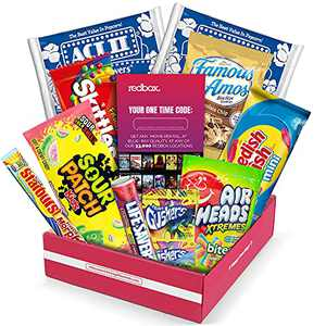Redbox Movie Night Care Package with Popcorn, Candy and Movie Rental for College Students, Easter, Gift Ideas, Birthday, Date Night, Corporate Gifts and Finals From