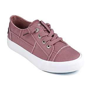 JENN ARDOR Slip On Canvas Shoes for Women Low Top Fashion Sneakers Comfortable Walking Flats Pink