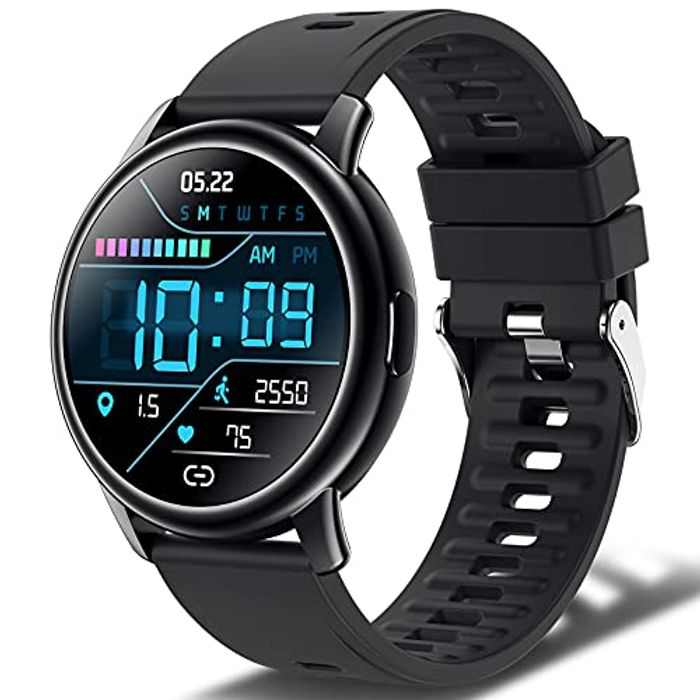 Smart Watch, Fitness Watch for Men Women, IP68 Waterproof Fitness Activity Tracker with 24 Sports Modes, 1.3'' Touch Screen Smartwatch with Heart Rate Sleep Monitor Calorie Stopwatch, 10 Days Battery