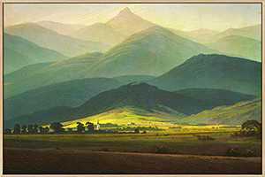 Mignombre Framed Canvas Wall Art for Living Room Bedroom - Caspar David Friedrich Oil Painting Art Reproduction Mountain of Giants - HD Color Prints Paintings Artwork for Modern/Rustic Home Office Decorations Ready to Hanging (16'' x 24'' , K006)