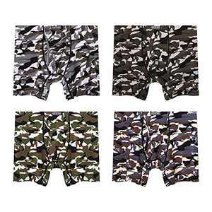 FOUSUPDT 4 Pack Men's Boxer Brief Underwear (Camo, X-Large)