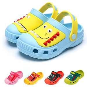 Kids Clogs Garden Dinosaur Slipper Sandals Boys Girls Summer Water Shoes Beach Pool Shower Slip-on Mules Pool Shoes