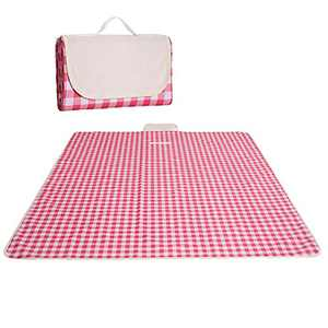 Picnic Mat Waterproof 71 x 57 inches Portable Outdoor Picnic Blanket Mat for Beach Blanket, Camping Blanket, RV Blanket, Baby Play Mat, Fishing,Picnic Mat Beach Mat Foldable (Red)