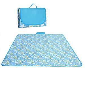 Picnic Mat Waterproof 71 x 57 inches Portable Outdoor Picnic Blanket Mat for Beach Blanket, Camping Blanket, RV Blanket, Baby Play Mat, Fishing,Picnic Mat Beach Mat Foldable (Blue)