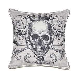 """Wahdland Halloween Skull Pillow Covers Halloween Decor Pillow for Couch,Sofa Halloween Pillow Cases Skull Pillow Cover 18""""x18"""" inch"""