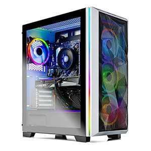 Skytech Chronos Gaming PC Desktop - AMD Ryzen 5 5600X 3.7GHz, RTX 3070 8GB, 16GB DDR4 3200, 1TB NVME, Windows 10 Home 64-bit, AC WiFi, White